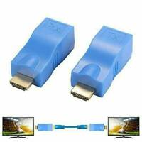 2x HDMI-Extender auf RJ45 über Cat 5e / 6-Netzwerk-Ethernet-4K-Adapter HD 1080P
