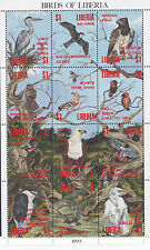 LIBERIA  1993  M/S  BIRDS OF LIBERIA   M / N / H