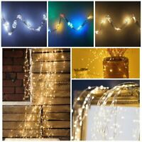 LED Tree Vine Waterfall Lights Copper Wire Fairy String Xmas Party Decor Lamp