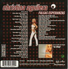 "CHRISTINA AGUILERA ""FALSAS ESPERANZAS"" ULTRA RARE SPANISH PROMO CD SINGLE / NEW"