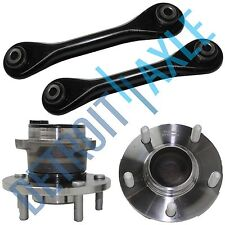 4pc Set NEW 2 Rear Wheel Hub and Bearing & 2 Lower Trailing Control Arm w/ ABS