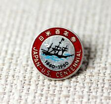 "VTG Sterling Silver Japan – US Centennial Red Enamel Pin 5/8"" – 11387"