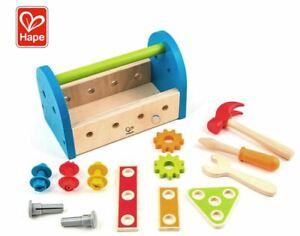 17pc Hape Fix-It Tool Box Kids/Children Pretend Construction Kit 3y+ Wooden Toy