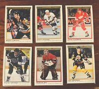 1990 OPC Premier lot of 6 Gretzky Lemieux Roy Yzerman Stevens Bourque - NM/MT