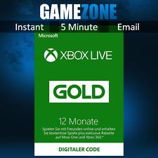 12 Monate Xbox Live Gold Mitgliedschaft Karte Card Code Key - Xbox 360 & One