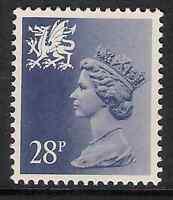 Wales 1987 W63a 28p litho phosphorised paper perf. 15x14 type II Regional MNH