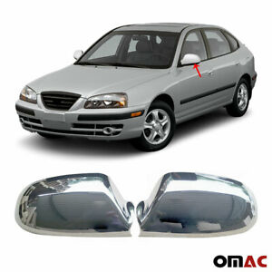 Fits Hyundai Elantra 2000-2006 Chrome Side Mirror Cover Protector Cap 2 Pcs