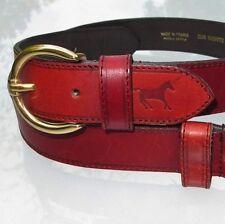 J.H. Wyckman Gigue Vintage 80's Red Belt Equistrian Size 75 Excellent !
