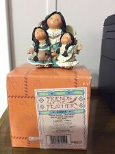 Friends Of The Feather Figurines, 3 Voices One Heart, Angel With Children