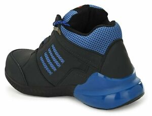 MENS SAFETY SHOES STEEL TOE CAP ANKLE LEATHER WORK BOOTS HKING TRAINERS UK SIZES