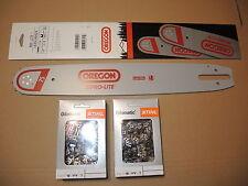 """Oregon Pro-Lite Schiene Schwert  16""""  40 cm  1,6  3/8"""" + 2x Stihl RS Sägekette"""