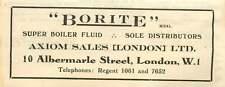 1946 Axiom Sales Boiler Fluid Albermarle Street London Small Ad