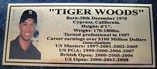 Golf Tiger Woods Gold orSilver Sublimated Plaque f/post