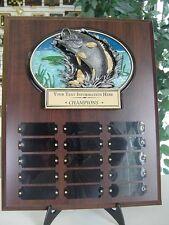 FISHING PERPETUAL 15 YEAR AWARD PLAQUE FREE ENGRAVING TROPHY