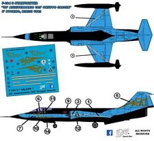 """F-104 G Starfighter """"Valzer"""" 50 Anniversario 102° Gruppo 5 Stormo decals 1:48"""