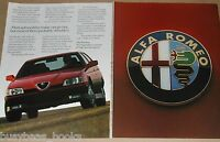 1990 Alfa Romeo 2-page advertisement, Alfa Romeo 164S, with large badge photo