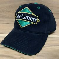 Team Issued Hendrick Motorsports Sta-Green Nascar Racing Black Strapback Hat