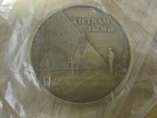 Vietnam The Wall ~ U.S.A. Veteran Brass Token ~ Uncirculated, Still in Wrapper