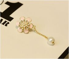 Wholesale 4pcs Pearl Daisy Front Anti Dust Plug For iPhone5,5c,5s,6,6
