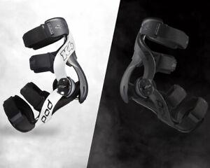 NEW 2021 POD K4 2.0 KNEE BRACES PAIR+FREE BAG MX ENDURO ADULT Black or White