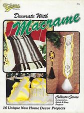 Vintage Home Decor Patterns Decorate with Macrame #914 Craft Book Instructions