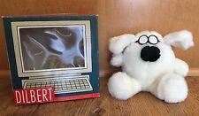 DOGERT WHITE DOG PLUSH DOLL STUFFED ANIMAL W/BOX BOX DILBERT COMIC SCOTT ADAMS
