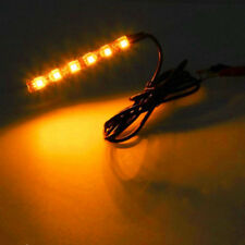 2 AMBER BRIGHT 4 inch 6 LED Waterproof Flexible Light Strip BLACK PCB board
