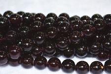 new AAA+10mm Sri Lanka Red Garnet (jade) Gemstone Round Loose Bead 15''