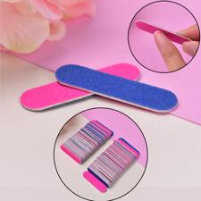 100pcs Mini Nail Files Nail Disposable Cuticle Remover Buffers Nail Art Tools
