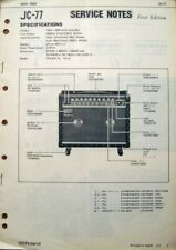 Roland JC-77 Jazz Chorus Guitar Amp Original Service Manual Schematics Booklet