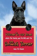 Scottish Terrier Sign Welcome 3d Great Christmas Stocking Filler