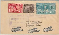 56611 - BASEBALL - NICARAGUA - STAMP on AIRMAIL COVER 1938