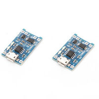 2PCS TP4056 5V 1A USB 18650 Lithium Battery Charger Board Protection ModuleAUIT