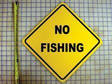 NO FISHING YELLOW ALUMINUM SIGN