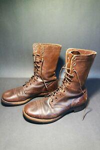 ORIGINAL WW2 US Airborne Paratrooper Brown Jump Boots 9.5D