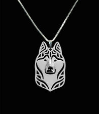 Siberian Husky Pendant Necklace Silver ANIMAL RESCUE DONATION