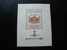 TCHECOSLOVAQUIE - timbre yvert et tellier bloc n° 28 n** (pliure) (Z2) stamp