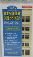 City Classics-HO Scale -- #705 Window Signs 1940-50s era for 105 Baum Blvd Kit