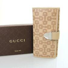 """New Authentic GUCCI """"Signorna"""" Horsebit Leather Continental Wallet 231837 2707"""