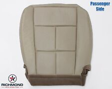 Perforated Passenger Side Bottom Leather Seat Cover -Double Stitch Seam -Tan