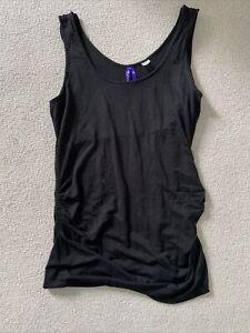 Seraphine maternity/nursing black vest top, size M
