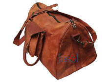 Travel gym weekend overnight Bag Men's genuine Leather large Triangle Duffel