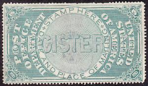 US Scott OXF1 old Registered Mail Seal U/VF