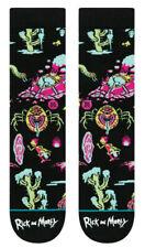 Stance x Rick And Morty Crash Landing Space Ship Socks Large Men's 9-12 Cartoon