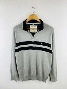 Colorado Men's Zip Jumper Size Small Grey Casual Pullover 1/4 Zip Collared