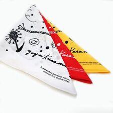 Yayoi Kusama Art Goods Bandana 3 Piece Set Red / Yellow / White From Japan