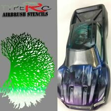 Airbrush Stencil for RC Body Stars Laser Cut Reusable 3pcs Set 3 Sizes