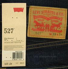 Levis 527 Jeans Mens New Slim Boot Cut Size 33 x 34 BLACK INDIGO Levi's #156