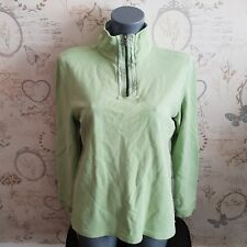 White Stuff Women's green 1/4 Zip Up Jumper Jacket Sweater Size 8 uk