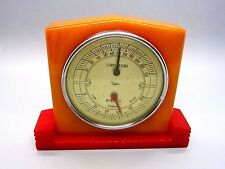 Vintage Art DECO TAYLOR Thermometer/humidity meter swirl CATALIN working ca-40s!